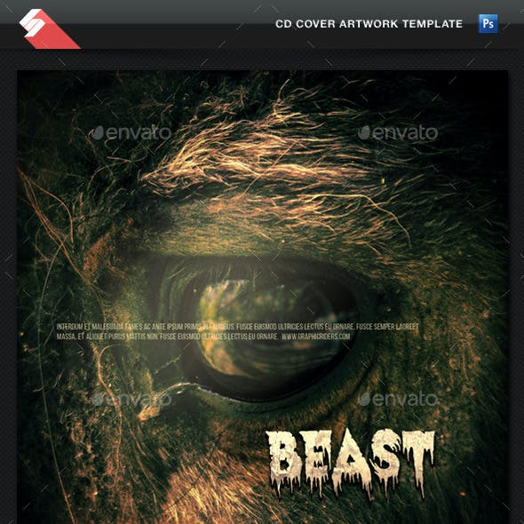 The Beast - CD Cover Artwork Template
