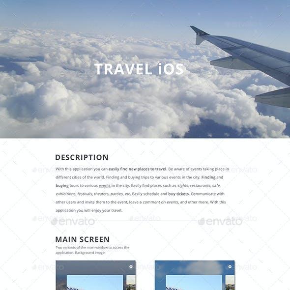 Mockup Travel iOS