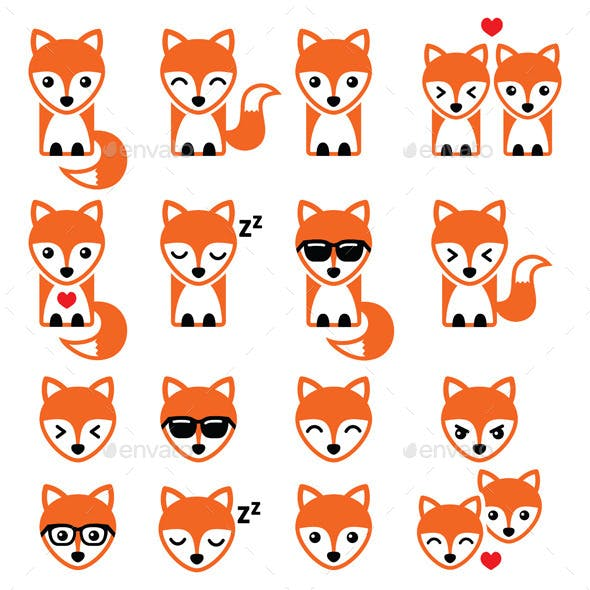 Fox Character Icons