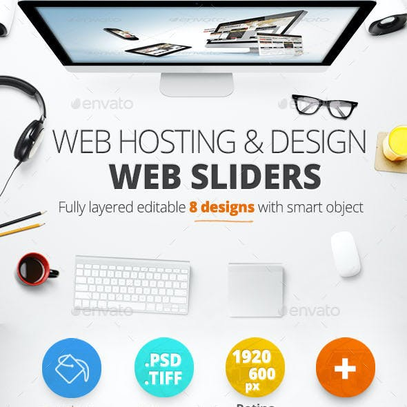 Web Hosting & Design Web Sliders 8 Designs