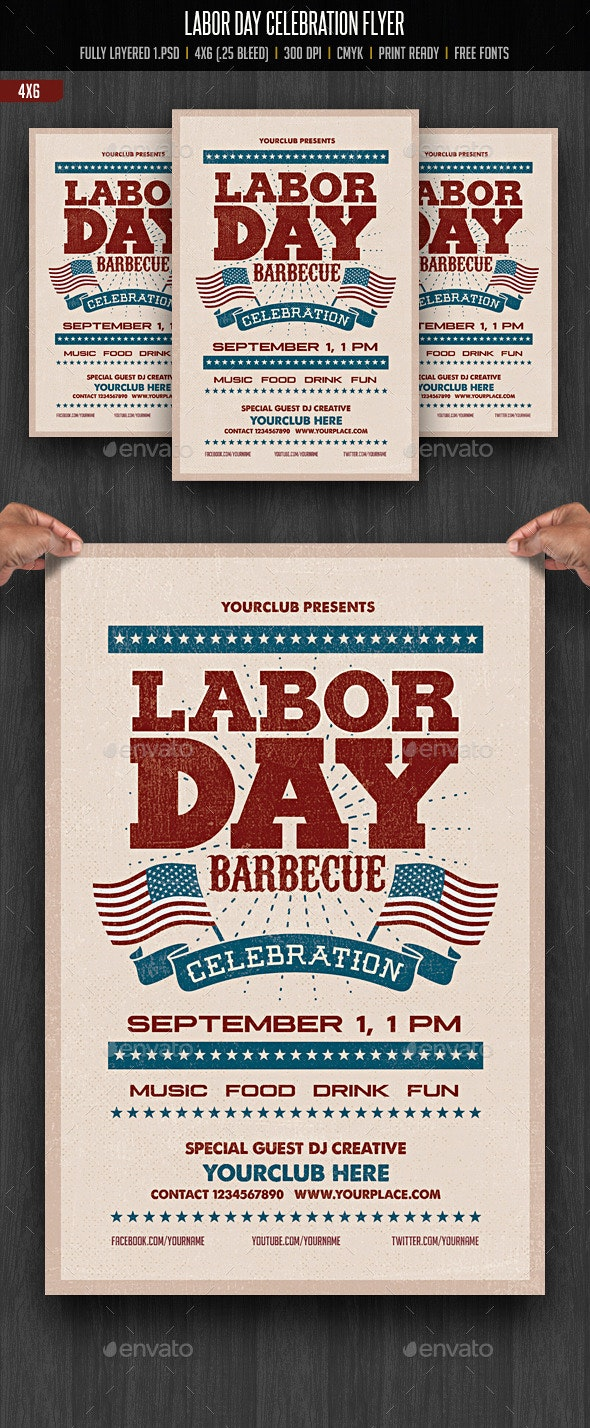 Labor Day Flyer - Clubs & Parties Events