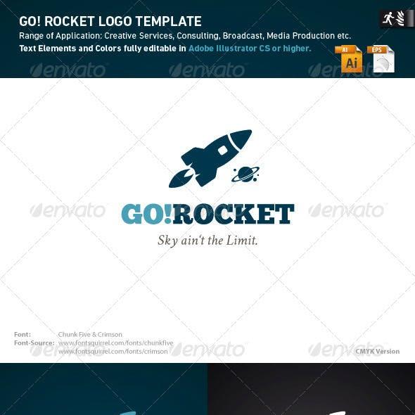 Go Rocket Logo Template