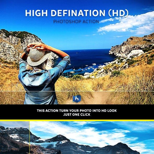 High Defination (HD) Photoshop Action