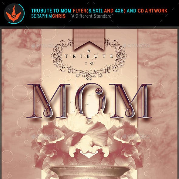 Tribute to Mom Flyer plus CD Artwork