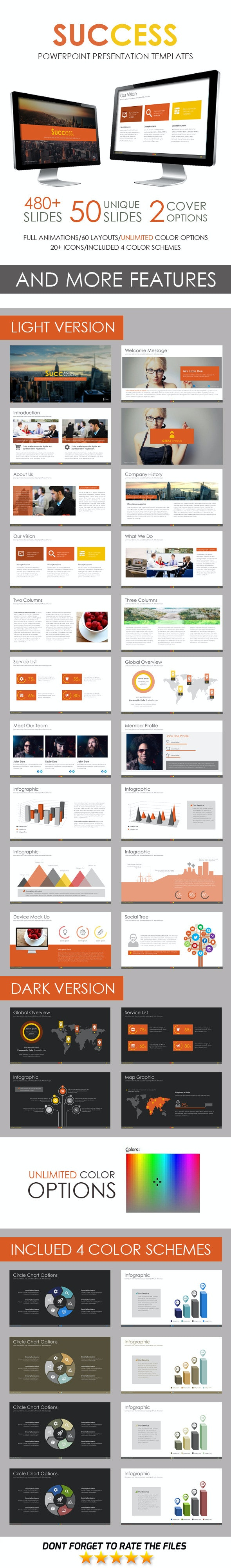 Success PowerPoint Template - Business PowerPoint Templates