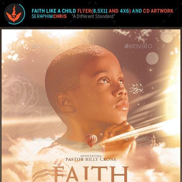 Faith like a Child Flyer and CD Artwork Template