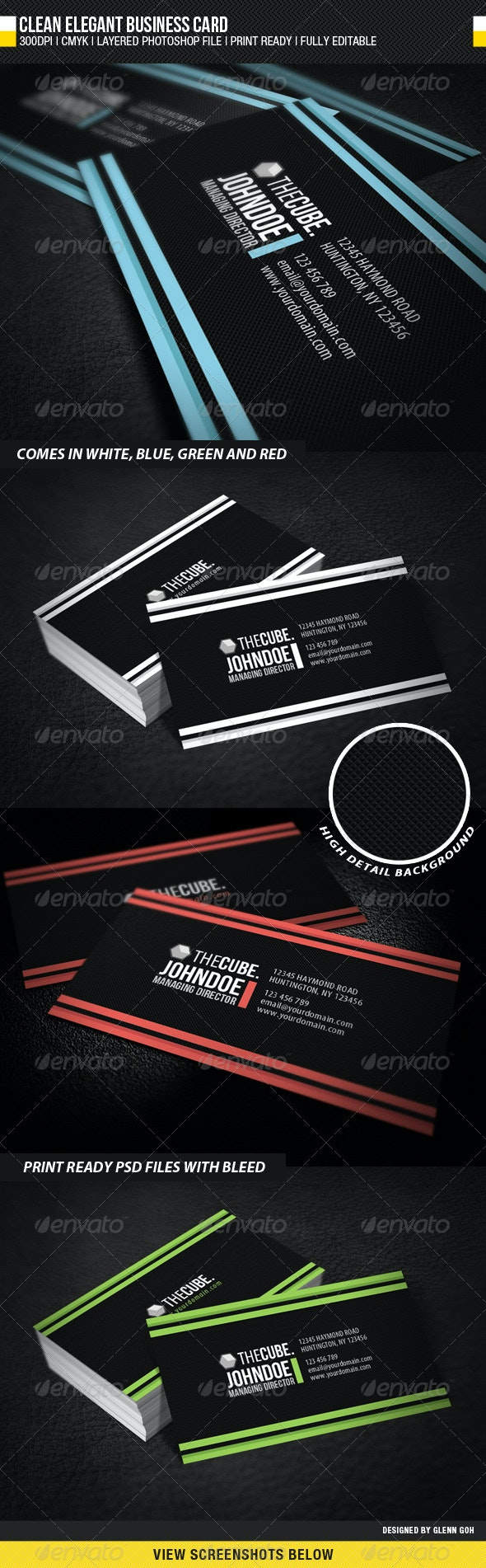 Clean Elegant Business Card - Corporate Business Cards