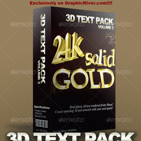 Glossy 3D Text Pack Volume 3