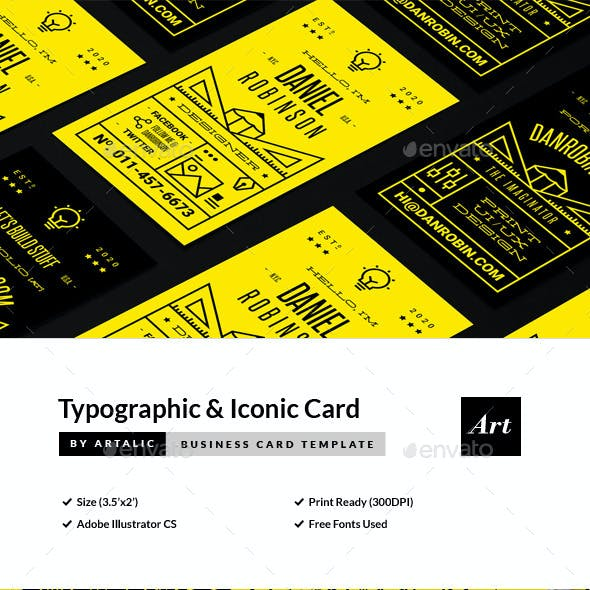 Typographic Namecard