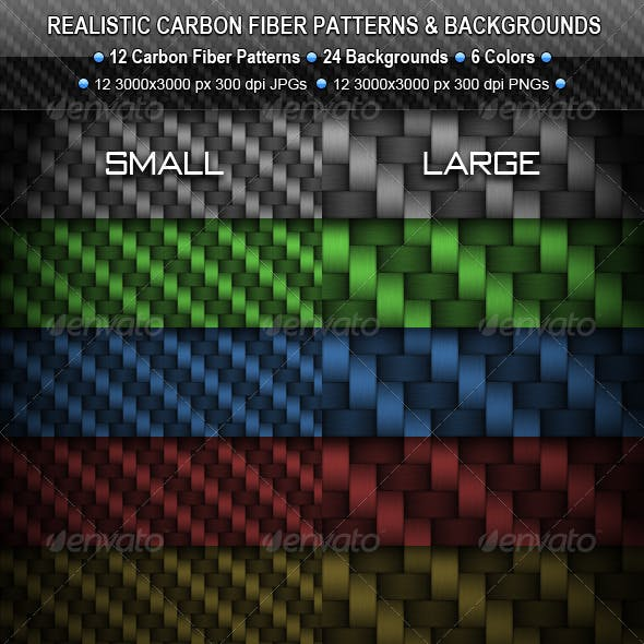 Realistic Carbon Fiber Seamless Patterns