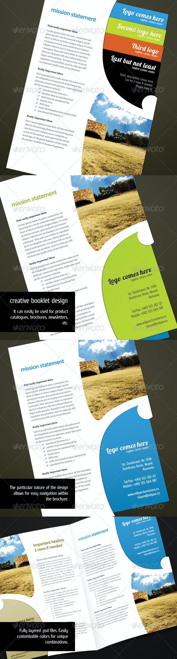 Brochure Unique Template. - Corporate Brochures