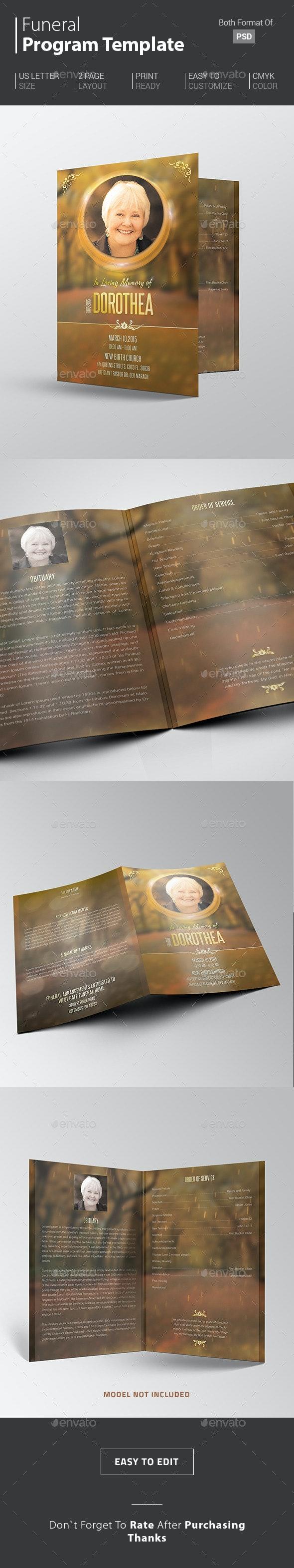 Classic Funeral Template - Informational Brochures