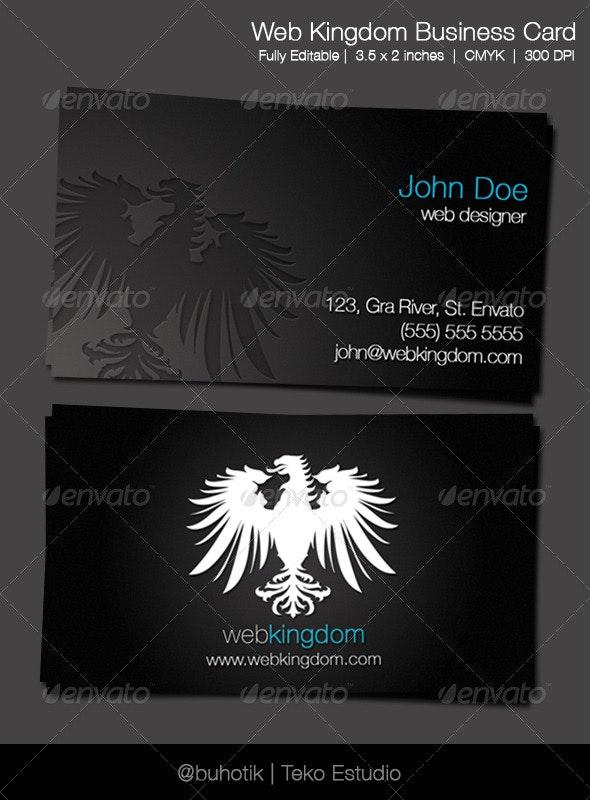 Webkingdom Business Card - Creative Business Cards