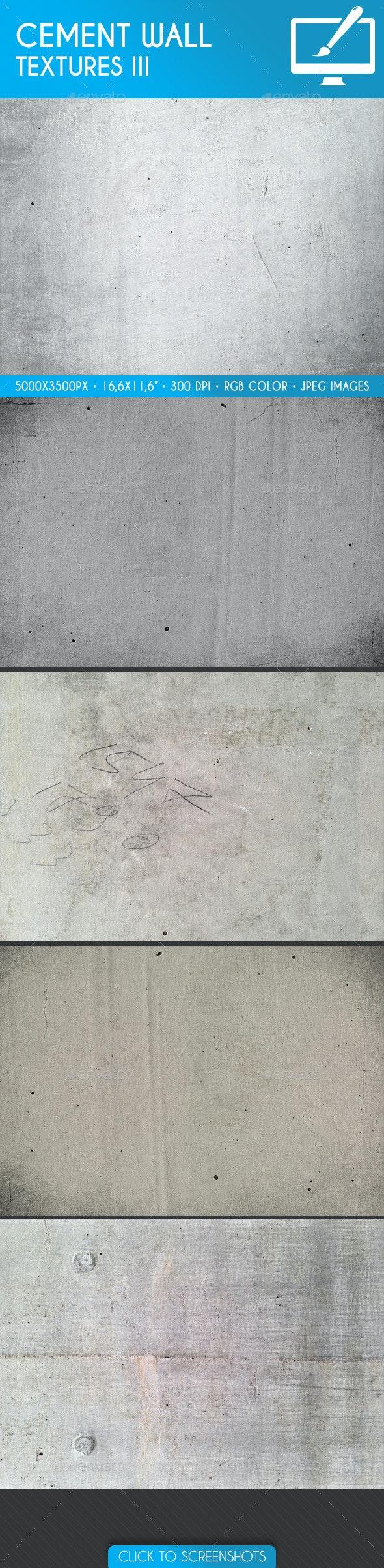 Cement Wall Backgrounds/Textures III - Textures