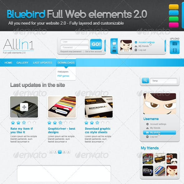 Full Web Elements for Your Web 2.0