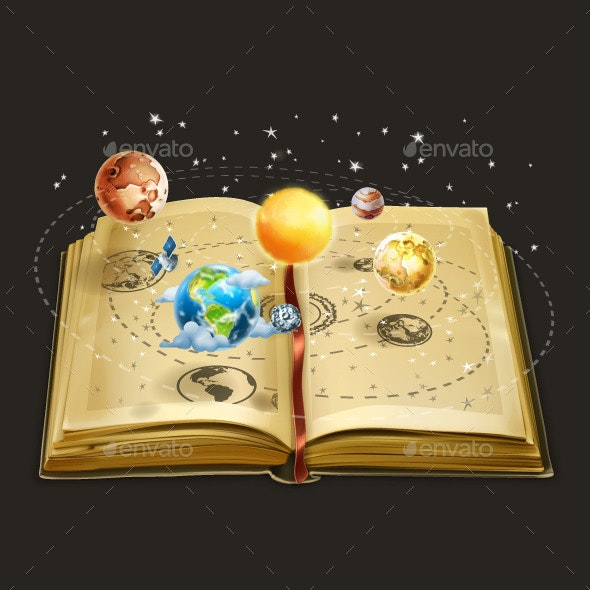 Book on Astronomy Illustration - Miscellaneous Conceptual