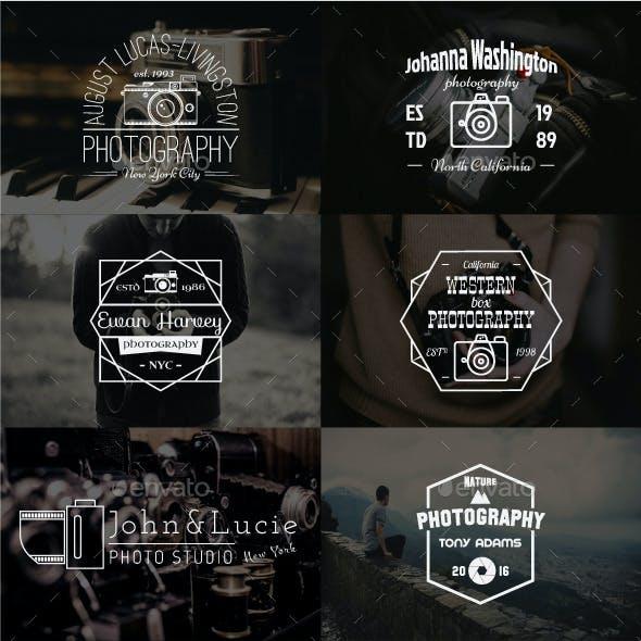 12 Vintage Photography Badges
