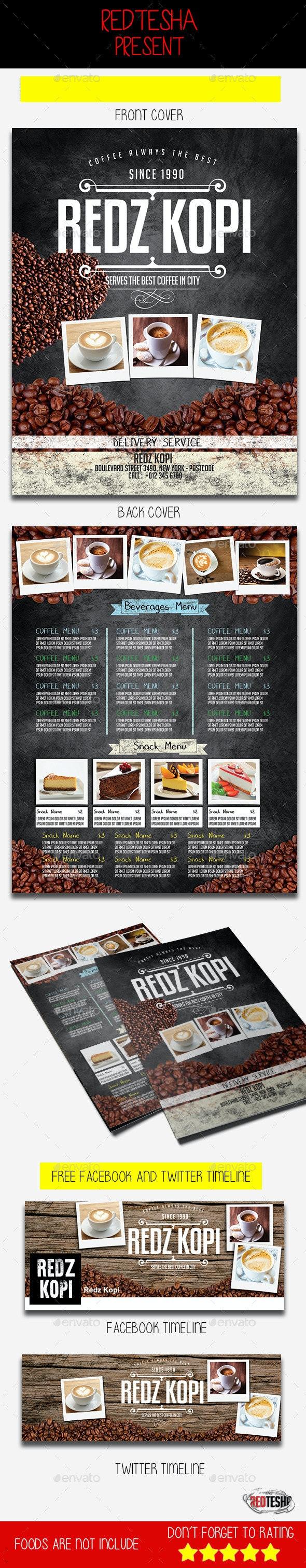 Coffee Shop Flyer - Food Menus Print Templates