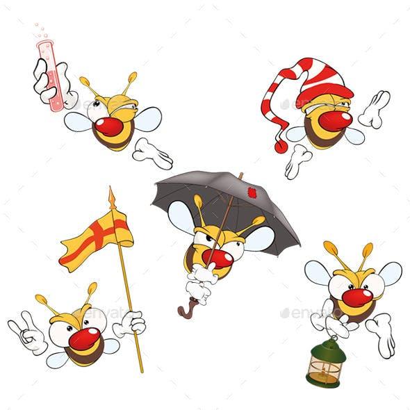 Cartoon Yellow Bees