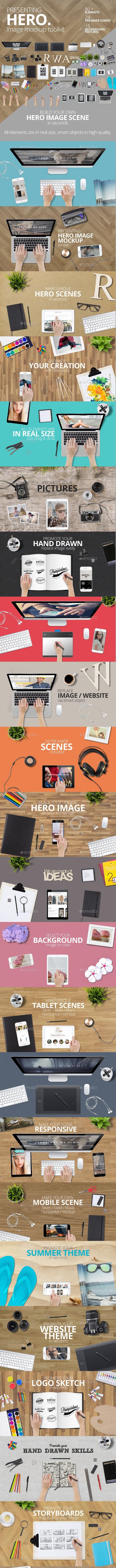 Hero Mockup Toolkit - Hero Images Graphics