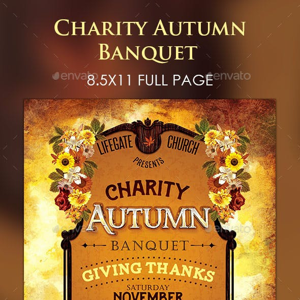 Charity Autumn Banquet Flyer