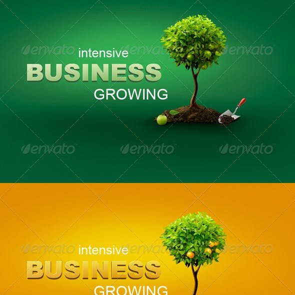 Conceptual Business Illustration With Trees