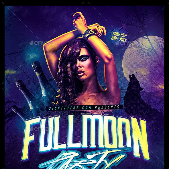 Full Moon Party Flyer