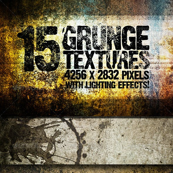 15 Grunge Textures with Lighting Effects!