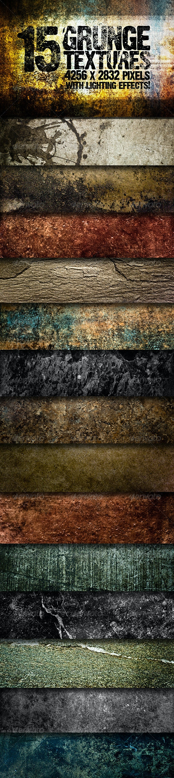 15 Grunge Textures with Lighting Effects! - Industrial / Grunge Textures
