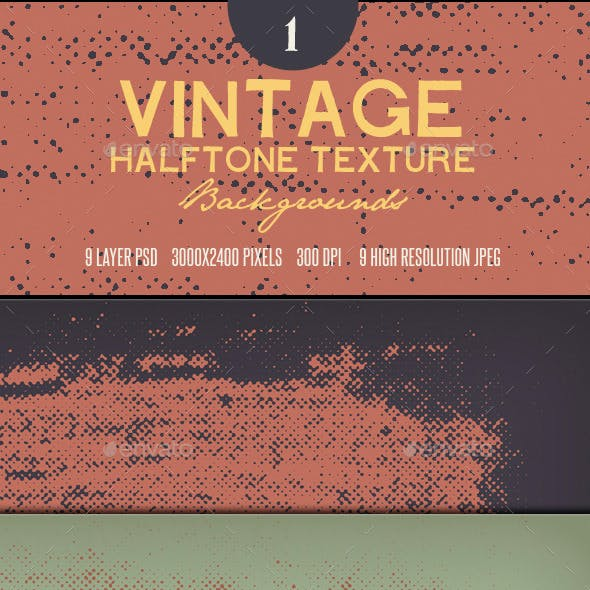 Vintage Halftone Textures Backgrounds 1