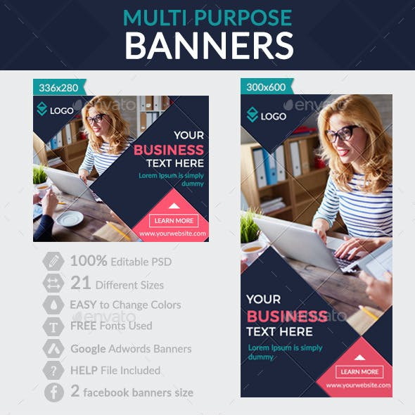 Multi Purpose Banners + Facebook banners