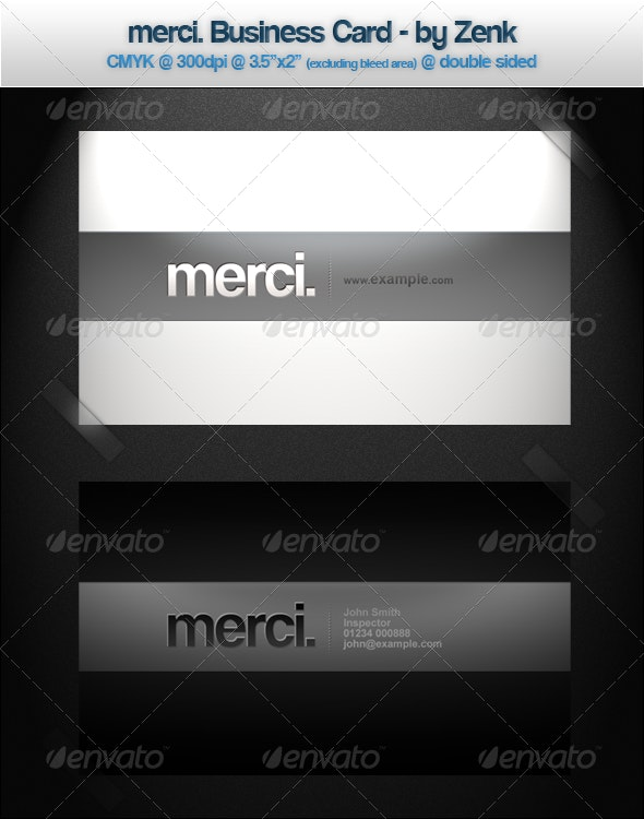 Merci. Clean and Modern Business Card - Business Cards Print Templates