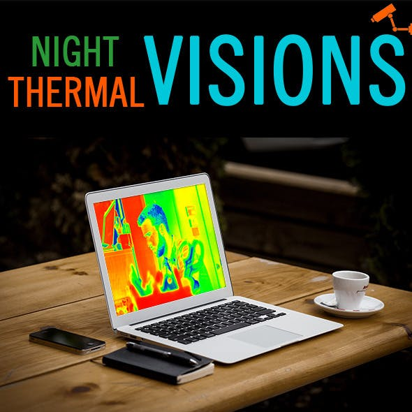 Night and Thermal Visions Photo Effect