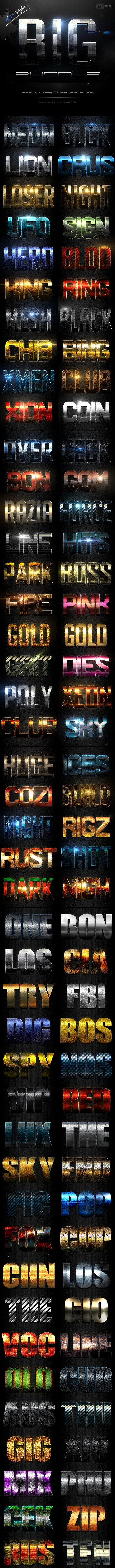 Text Effect Styles Big Bundle - Text Effects Styles