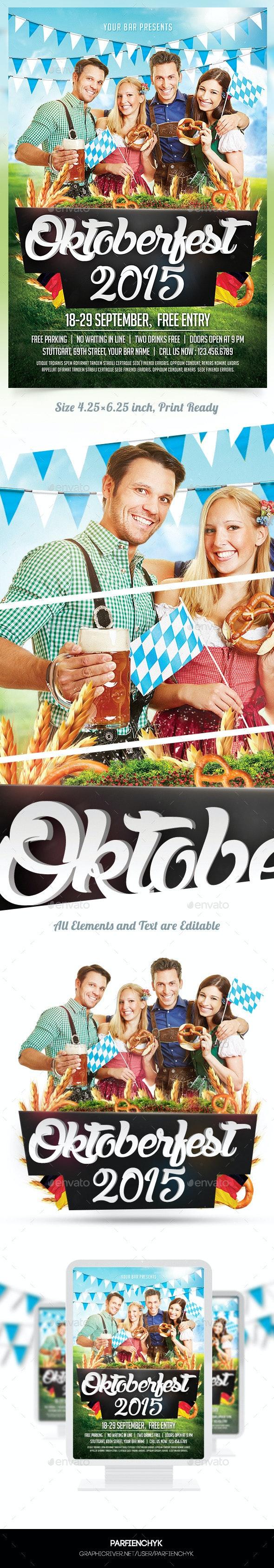 Oktoberfest Flyer Template - Clubs & Parties Events