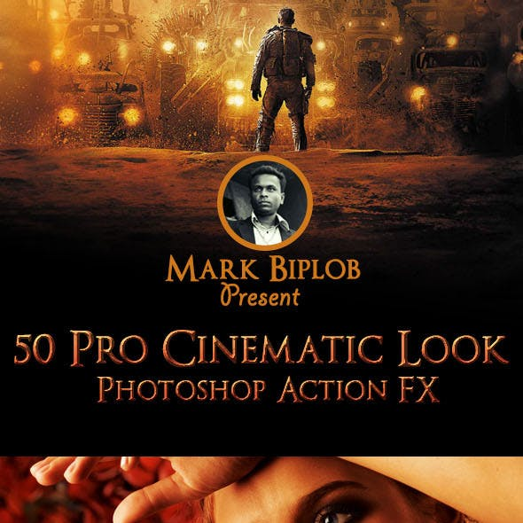 50 Pro Cinematic Photoshop Action FX