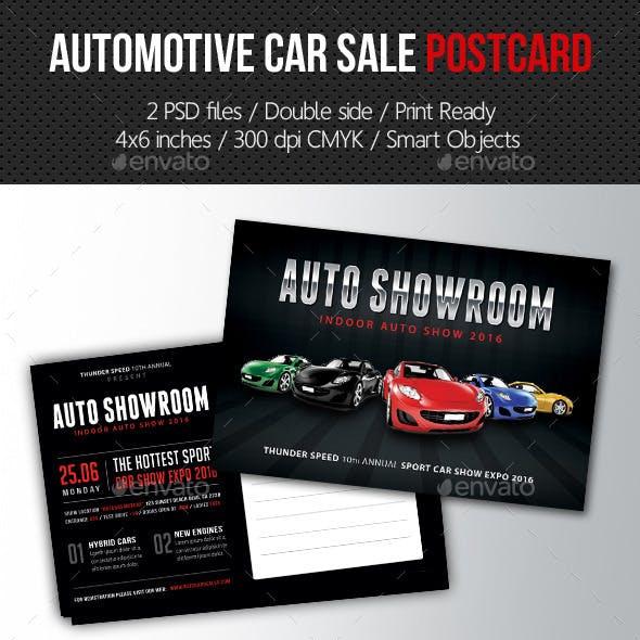 Automotive Car Sale Postcard Template V03