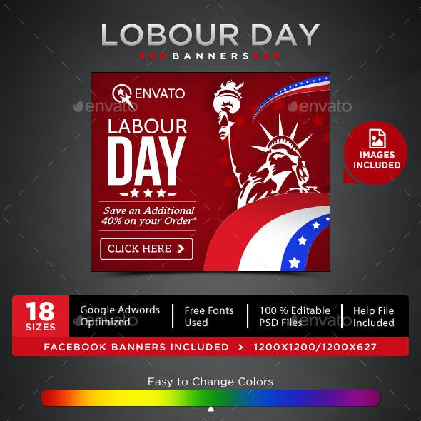 Labour Day Sale Banners