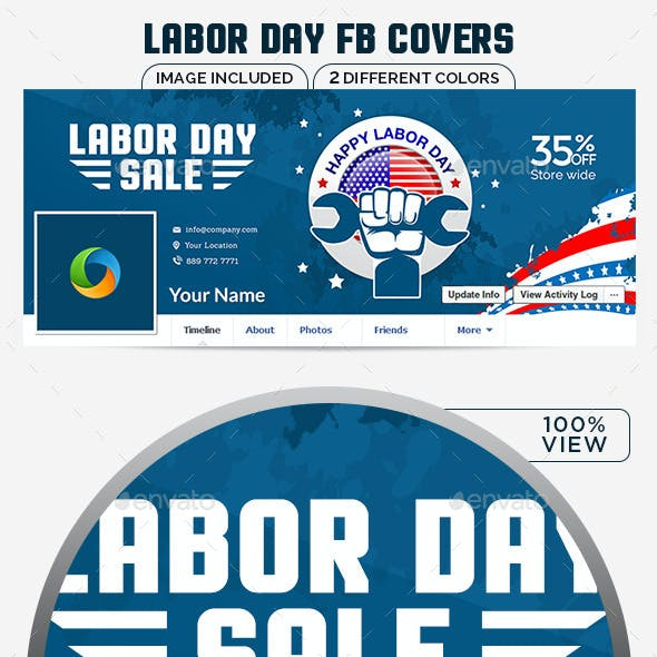 Labor Day Sale Facebook Covers