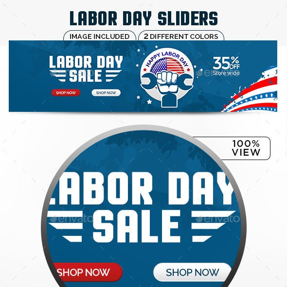 Labor Day Sale Sliders - 2 Colors