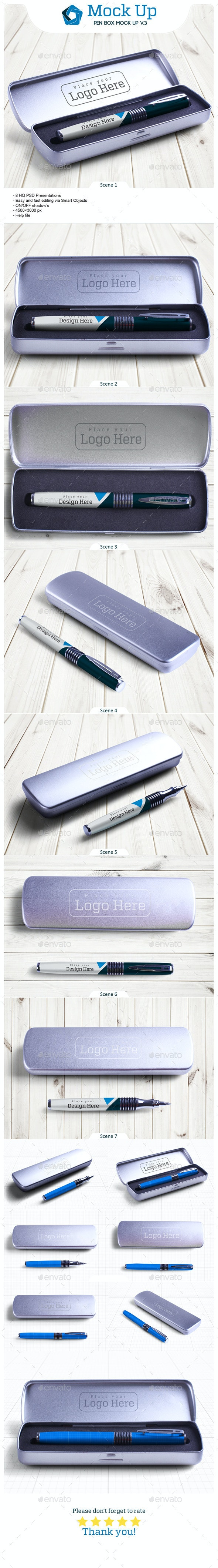 Pen Box Mock Up V.3 - Miscellaneous Product Mock-Ups
