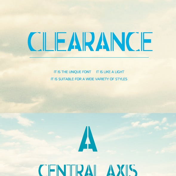 Clearance-Lnnovation of the font
