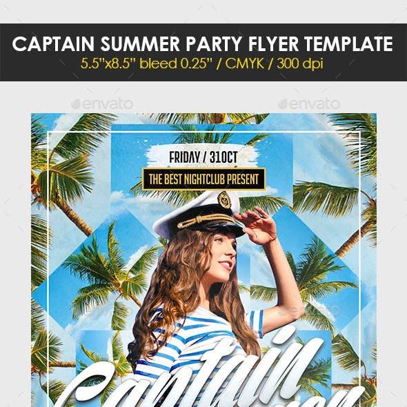 Captain Summer Party Flyer