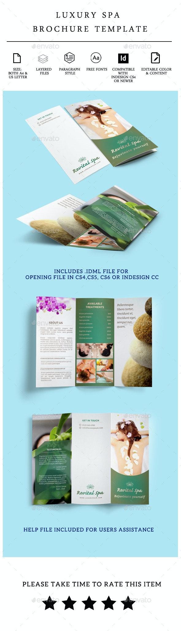 Luxury Beauty Spa Care Brochure Template - Vol 1  - Corporate Brochures