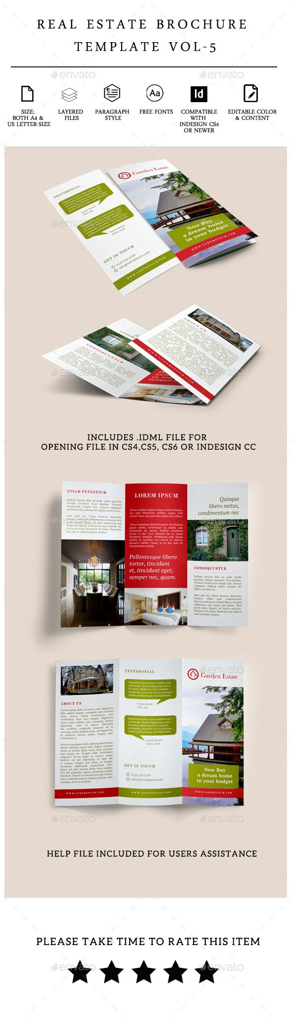 Real Estate Trifold Brochure Vol-5 - Corporate Brochures