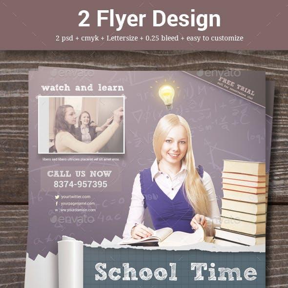 2 Sketch School Flyer
