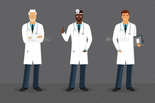 Man Doctor in Various Poses - Health/Medicine Conceptual