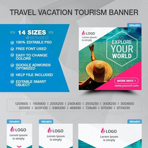 Travel Vacation Tourism Banner