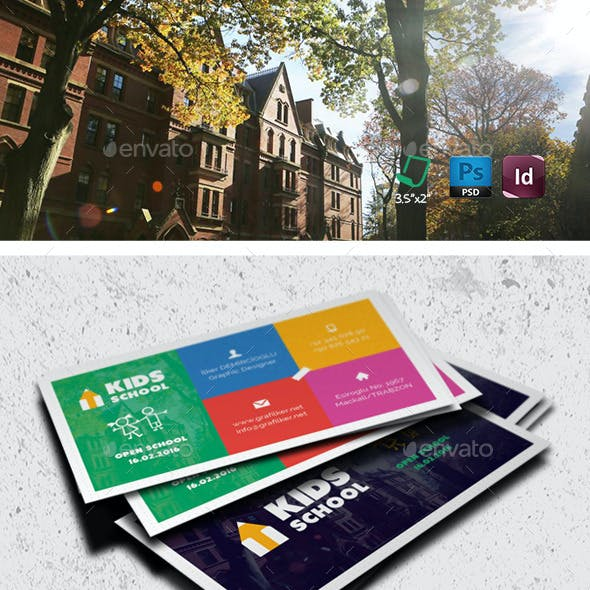 Kids School Business Card Templates