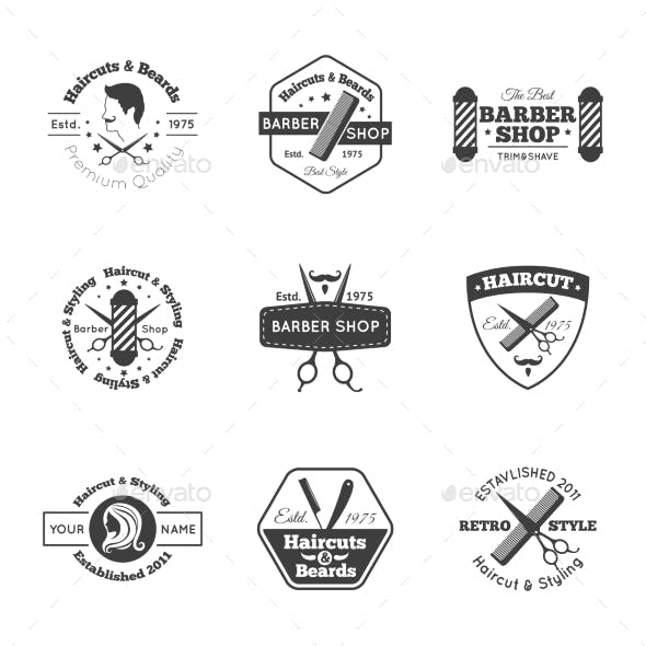 Hairdress Logo Set